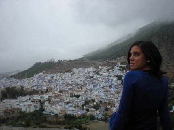Vista de Chauen desde lo alto de la montaña