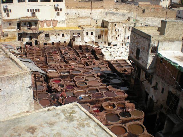 Curtidores de Fez después del Ramadán