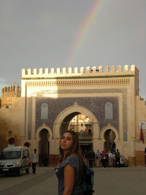 Puerta Bab Boujeloud en Fez
