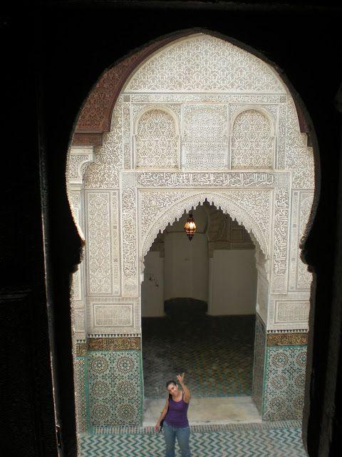 Detalle de la madraza de Meknés/Mequinez
