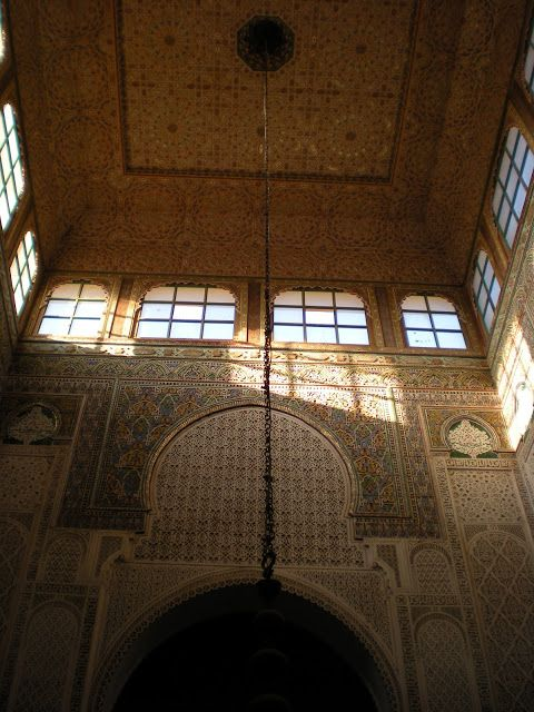 Detalle de la mezquita/mausoleo de Mulay Ismail en Meknés o Mequinez