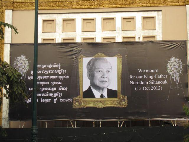 Luto al rey padre Norodom Sihanouk en Camboya