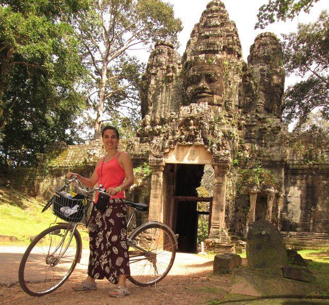 La puerta de la Victoria de Angkor Thom, Camboya