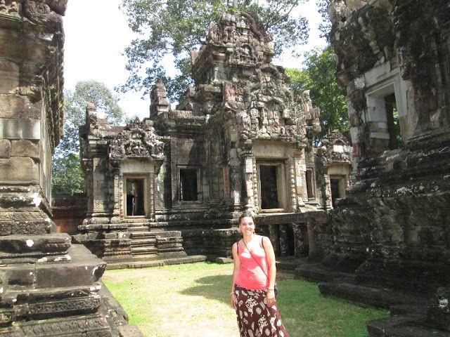 Templo de Chau Say Tevoda en Angkor, Camboya