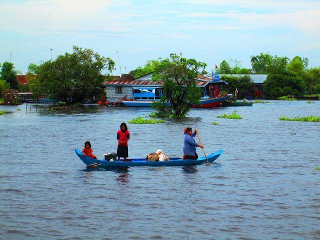 Lago Tonlé Sap en Camboya