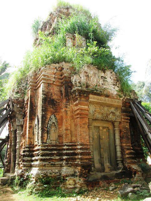 Templo de Lolei en Angkor, Camboya