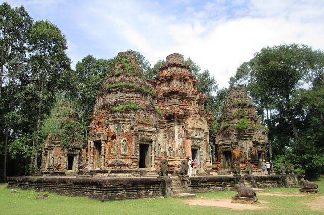 Templo de Preah Ko en Angkor, Camboya
