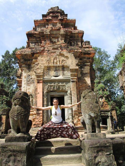 Los leones en Angkor, Camboya