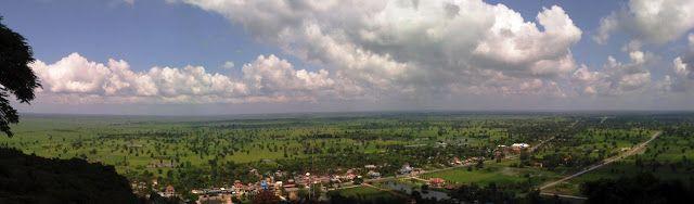 Vistas de los campos de arroz