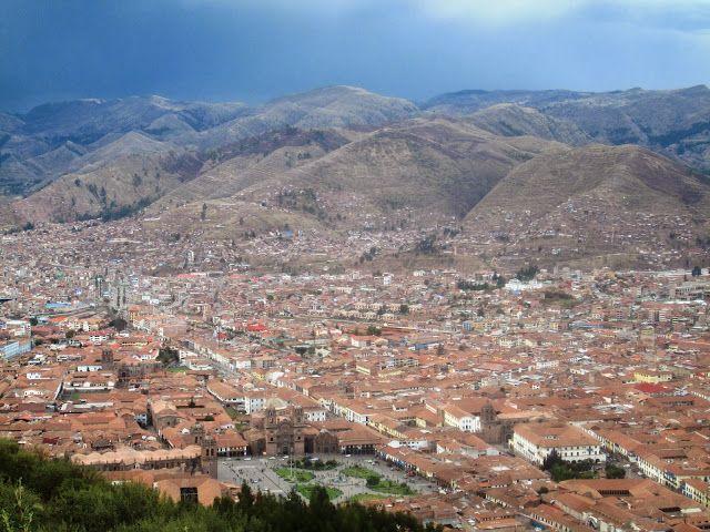 Vistas desde la fortaleza inca de Cuzco