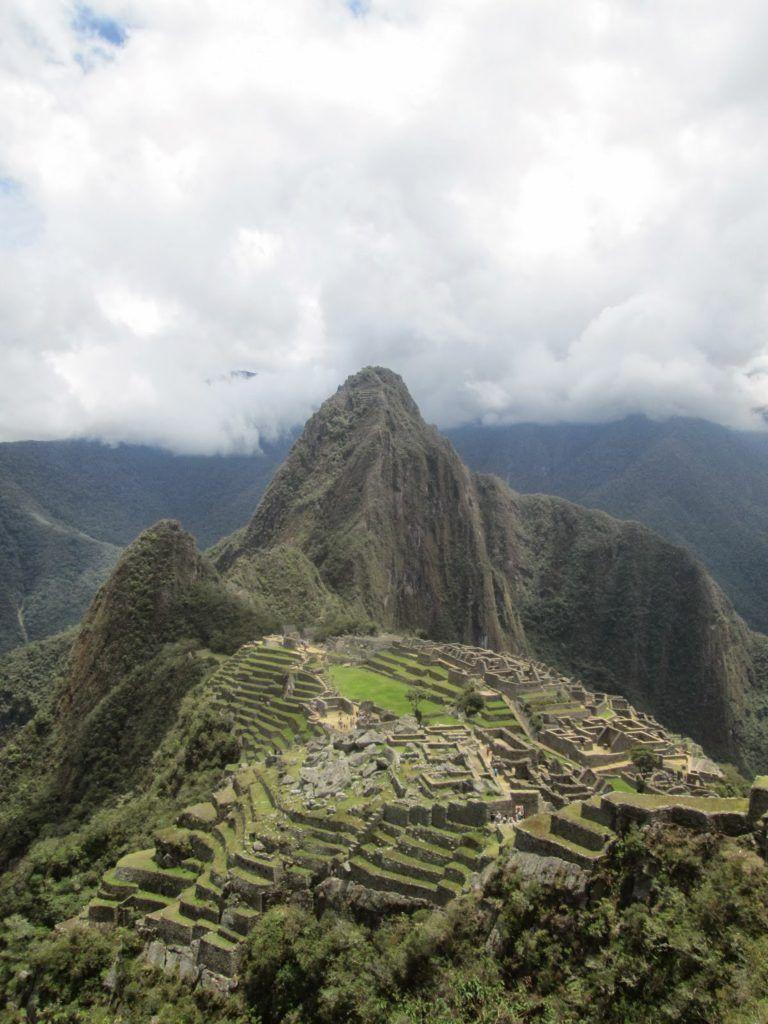 Vista típica del Machu Picchu