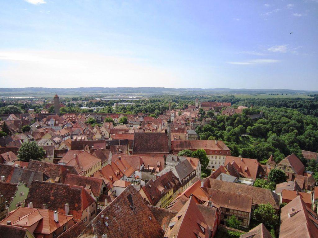 Vistas desde la torre del Rathaus de Rothemburg