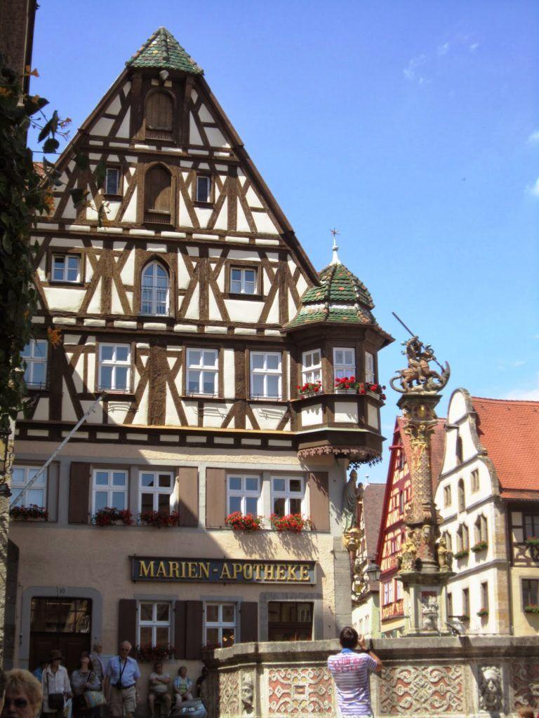 Detalle de la Marktplatz de Rothenburg