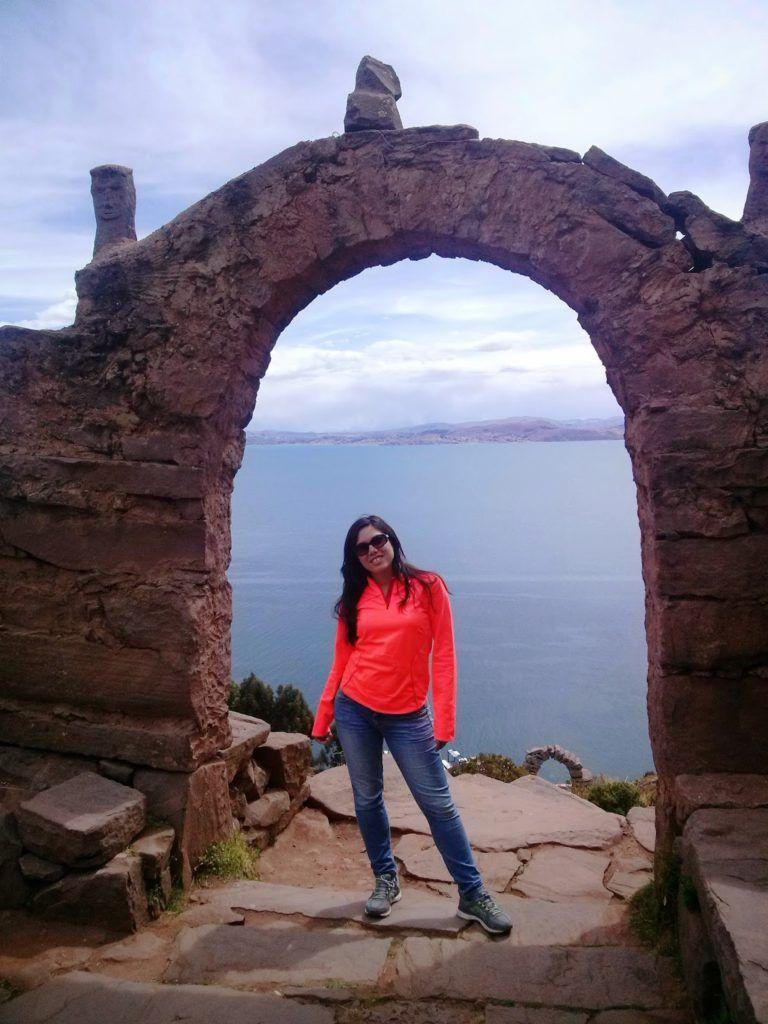 Vistas del lago Titicaca desde la isla de Taquile