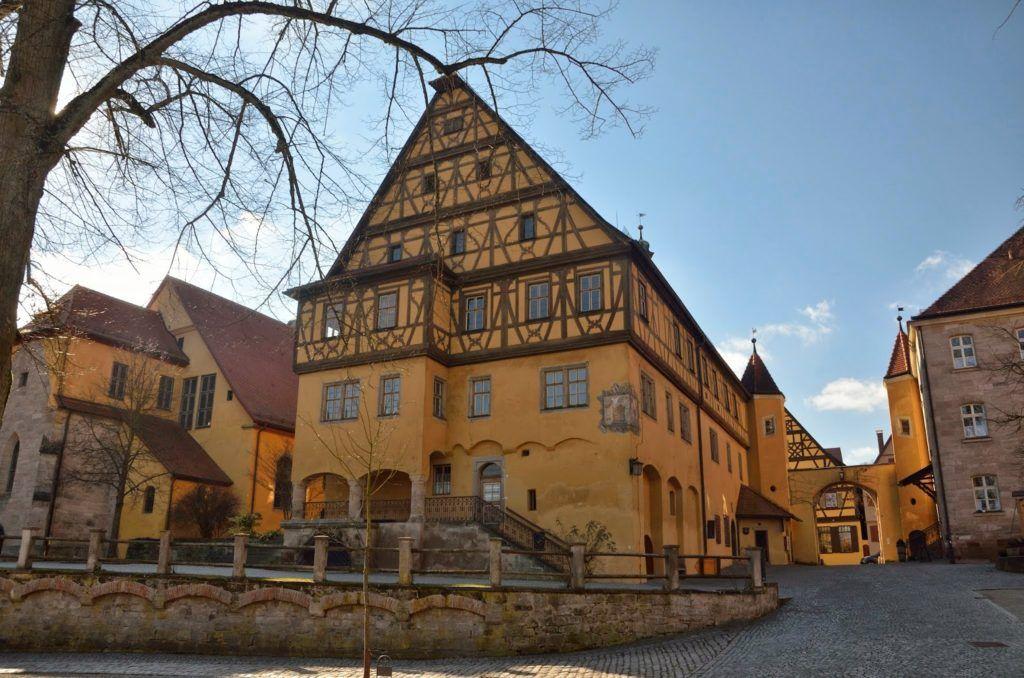 Vista desde el patio del hospital de Dinkelsbühl