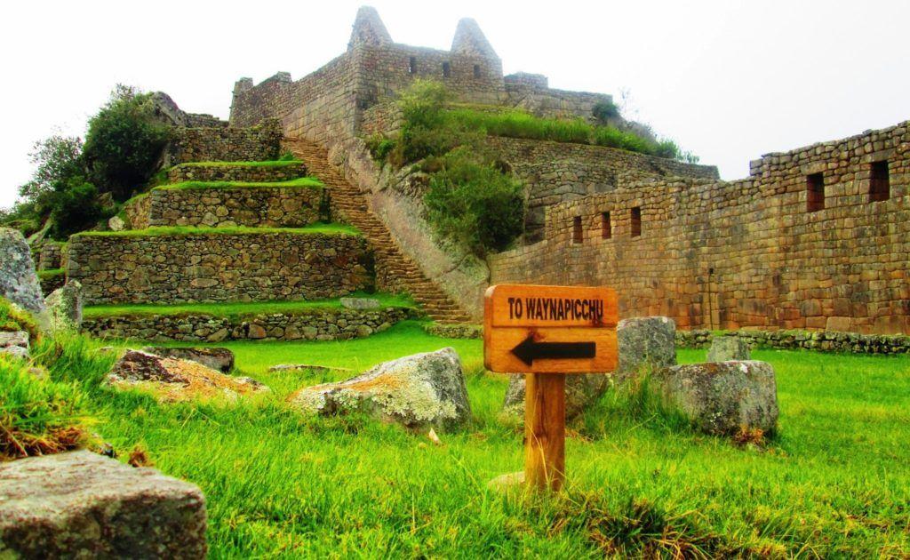 Señal para ir al Huaynapicchu