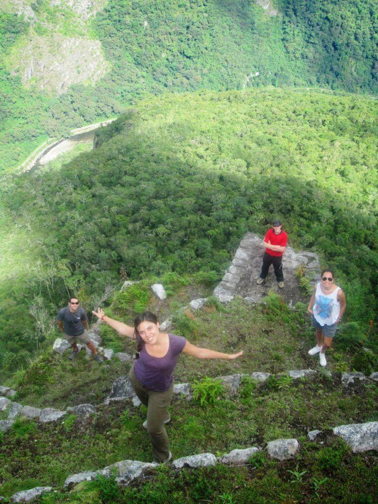 Bajando al Machu Picchu