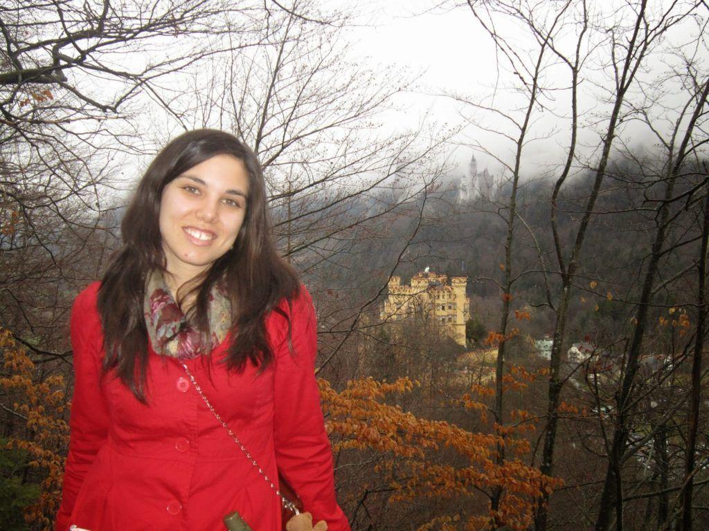 Castillo de Hohenschwangau  y más al fondo el de Disney