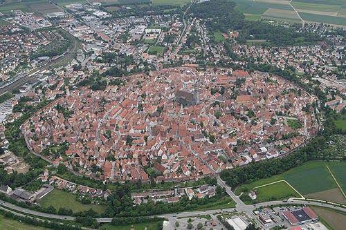 Imagen aérea de Nördlingen