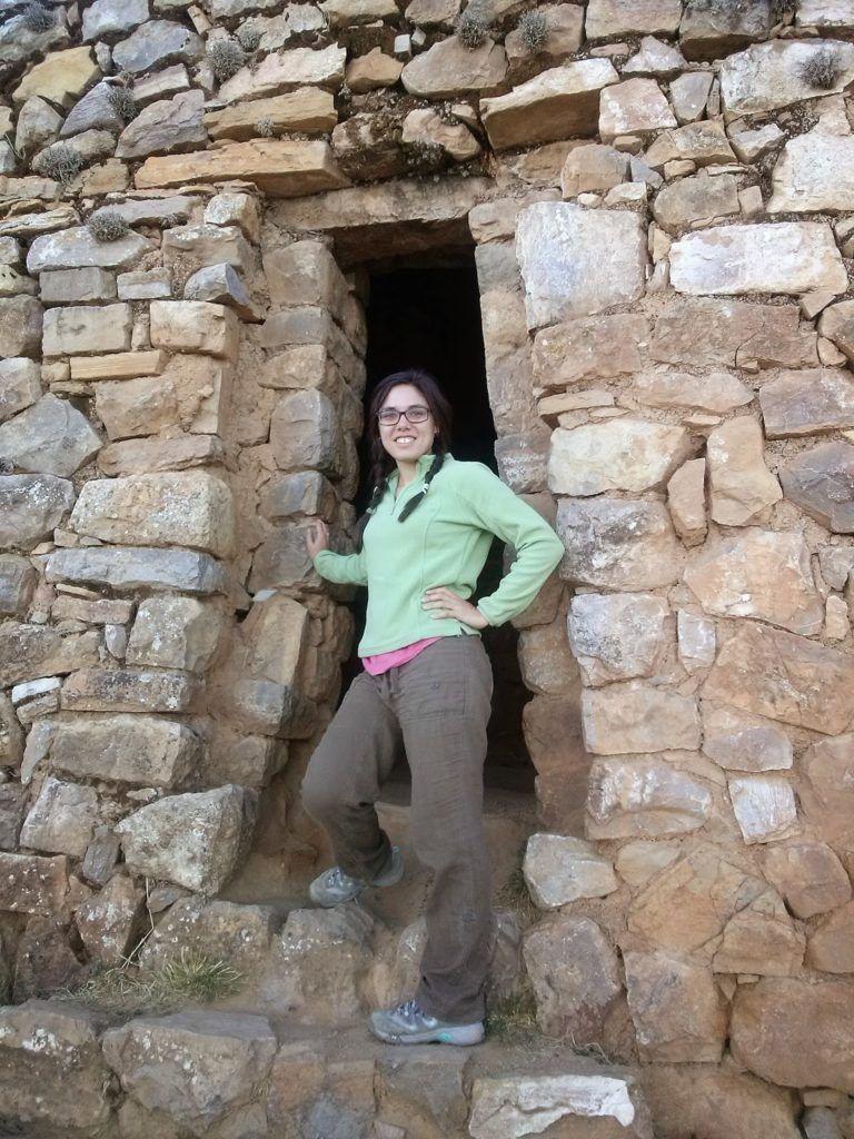 En el palacio de Pilkokaina de la isla del Sol en Bolivia