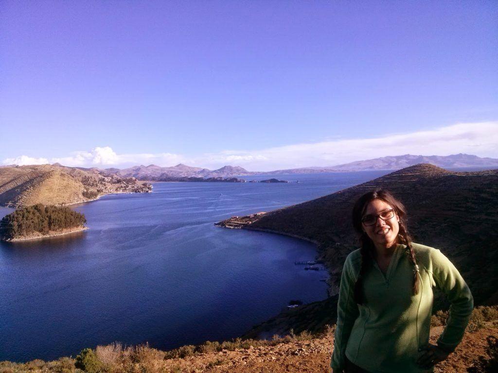En la isla del Sol del lago Titicaca