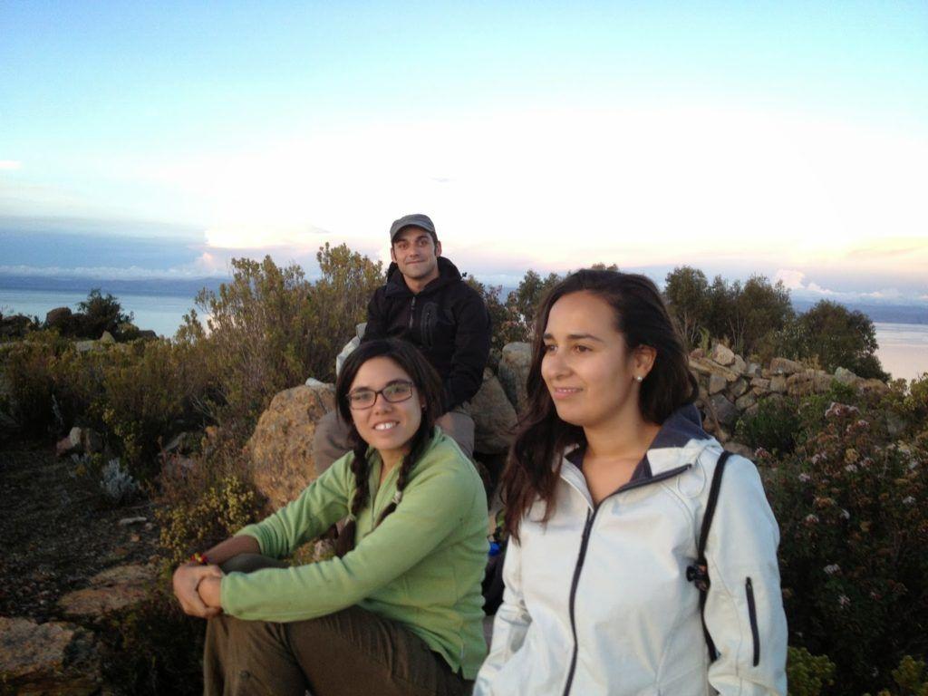 Puesta del sol en el lago Titicaca
