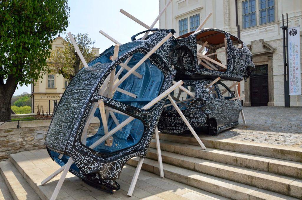 Escultura en Kutná Hora