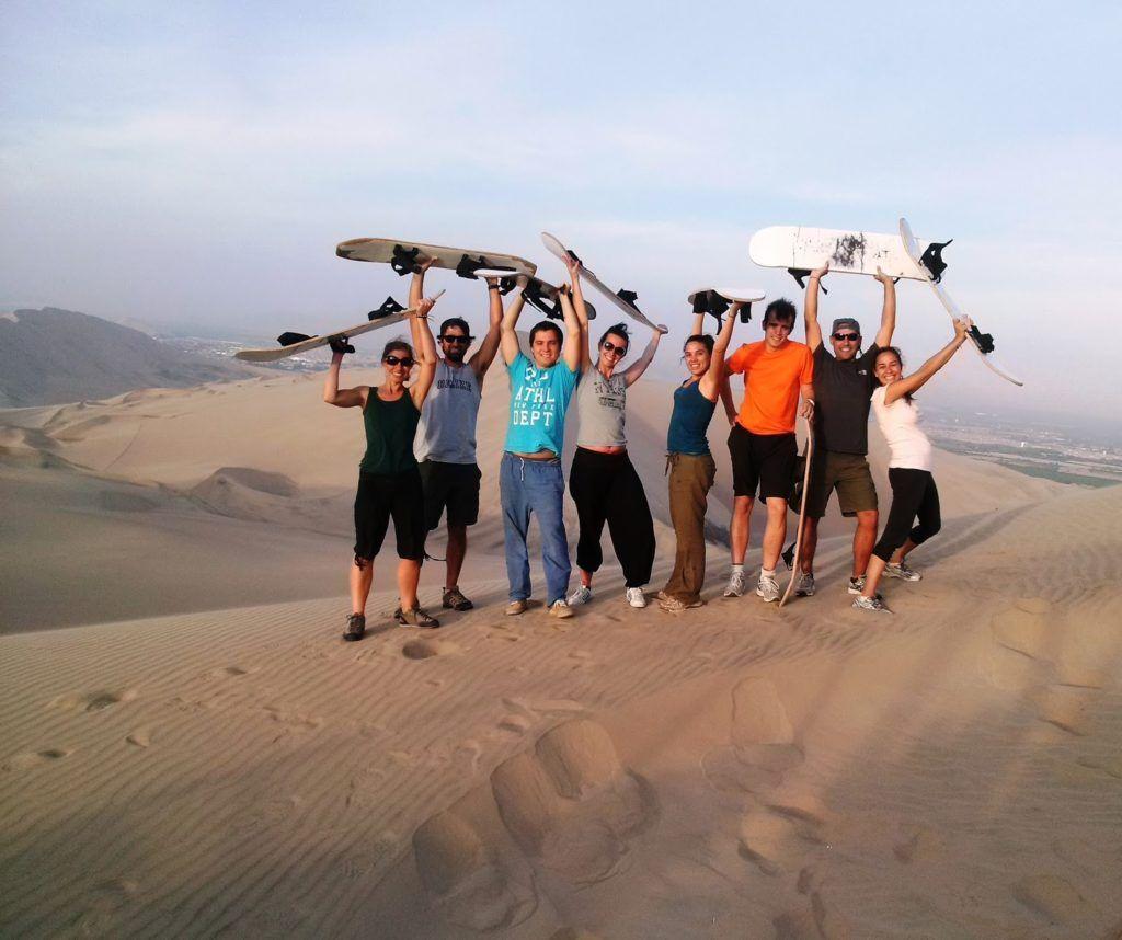 Nuestro equipo de sandboarding
