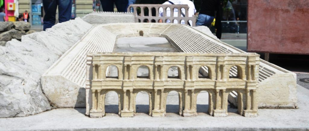 Maqueta del estadio romano de Plovdiv