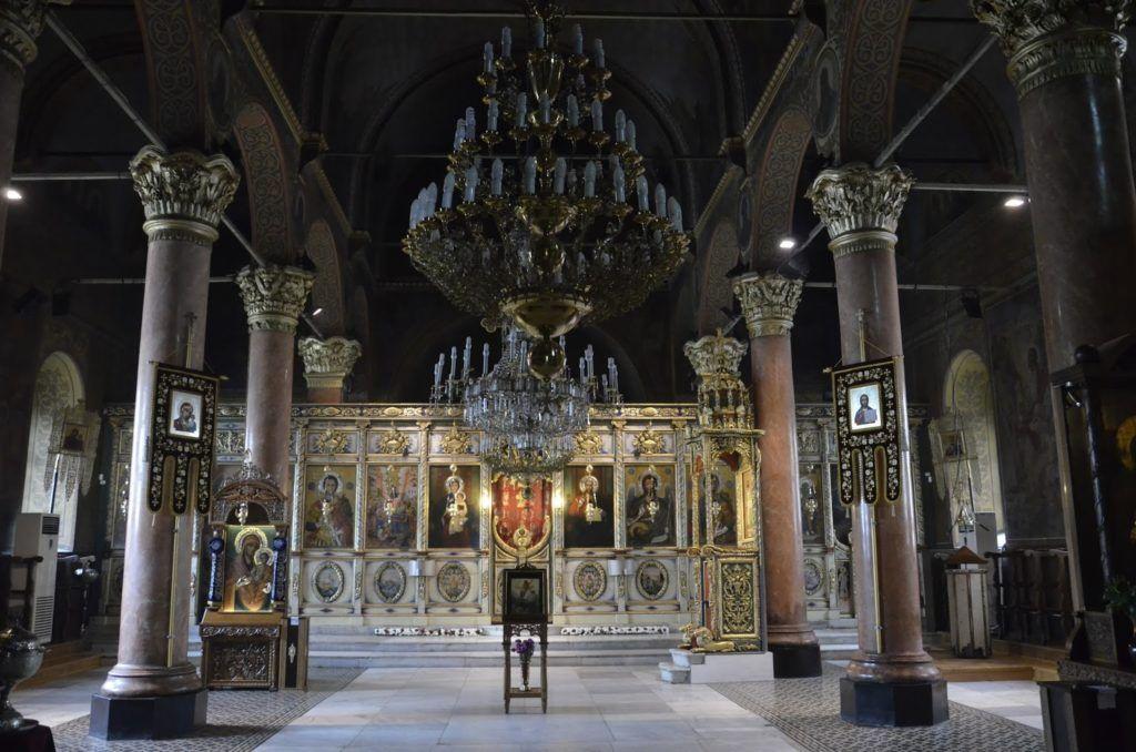 Interior de la Catedral de la Asusnción. de Plovdiv