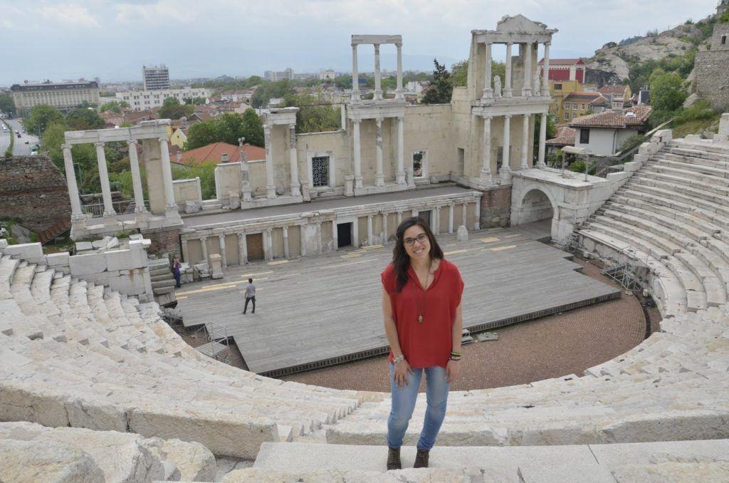 Una servidora en el teatro romano de Plovdiv
