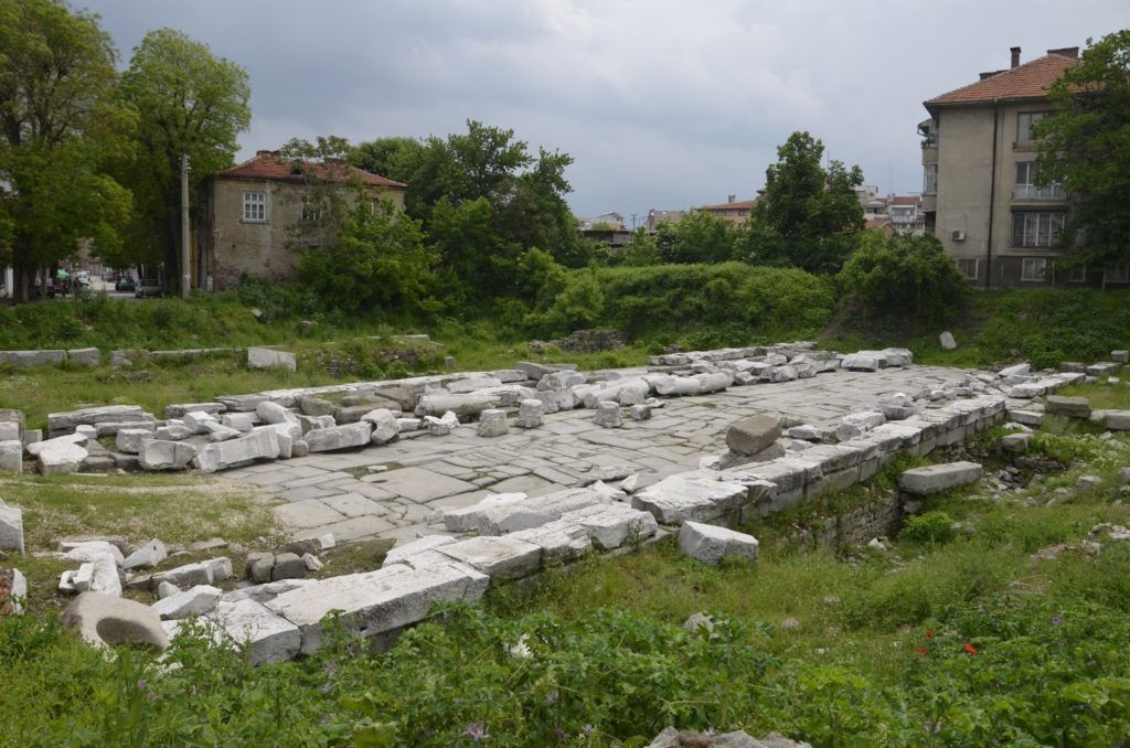 Antigua entrada a la ciudad romana de Plovdiv