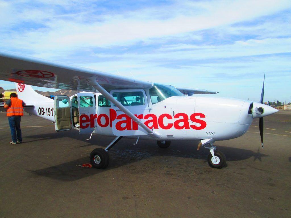 Nuestra avioneta de AeroParacas