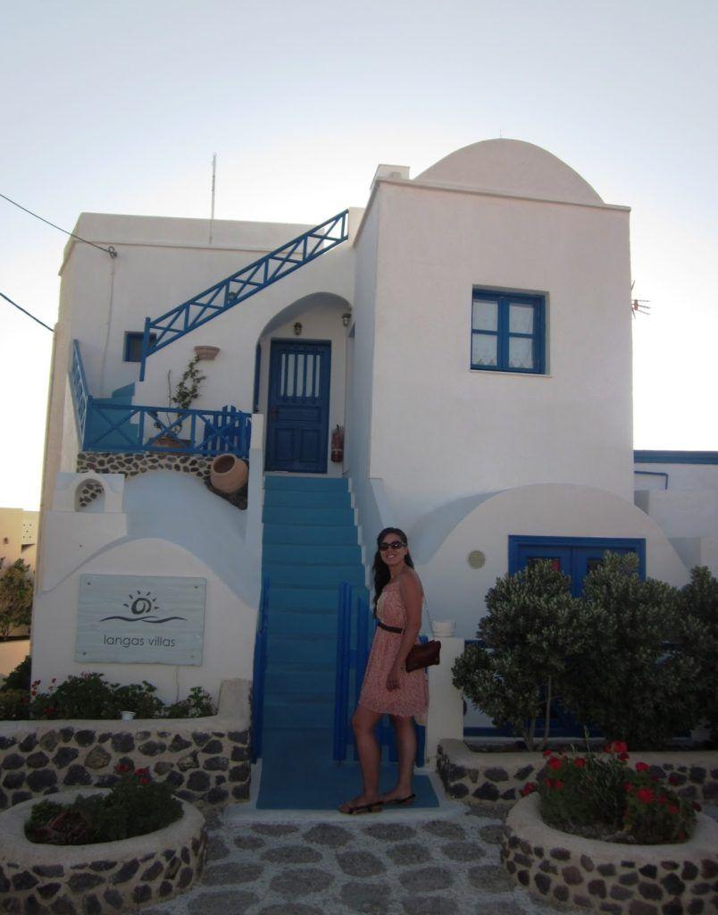 En mi casa de Santorini