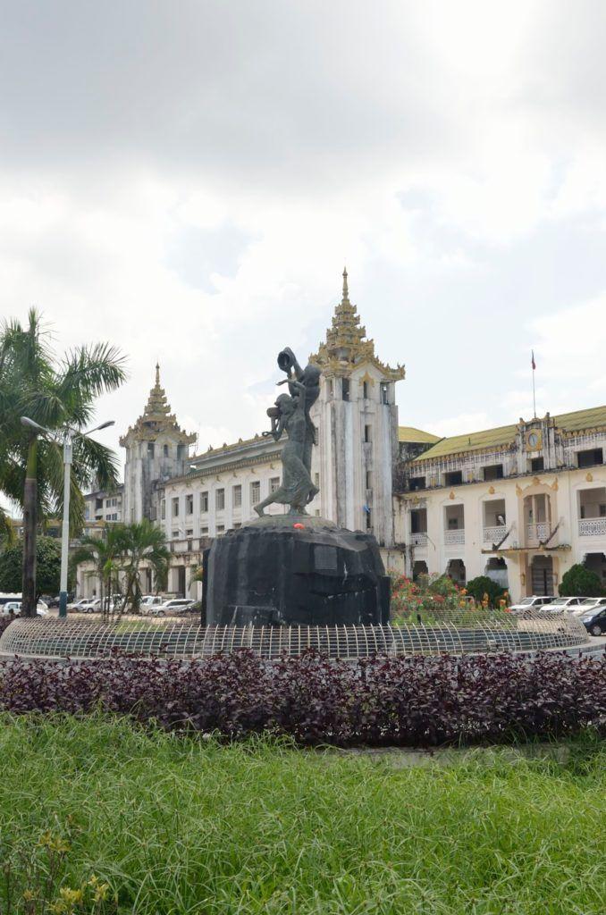 Estación central de trenes de Yangón