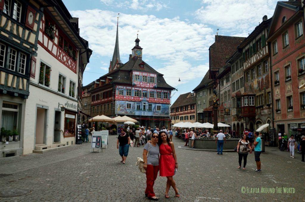 Plaza de Stein am Rhein en Suiza