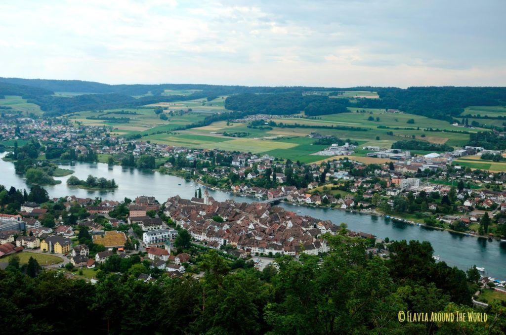 Vistas desde el castillo de Stein am Rhein en Suiza