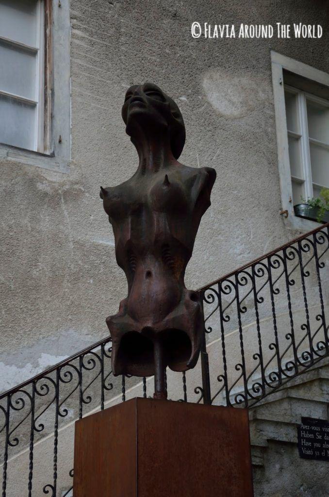 Escultura de Alien en Gruyeres