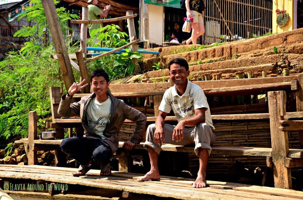 Guías del trekking hasta el lago Inle en Myanmar