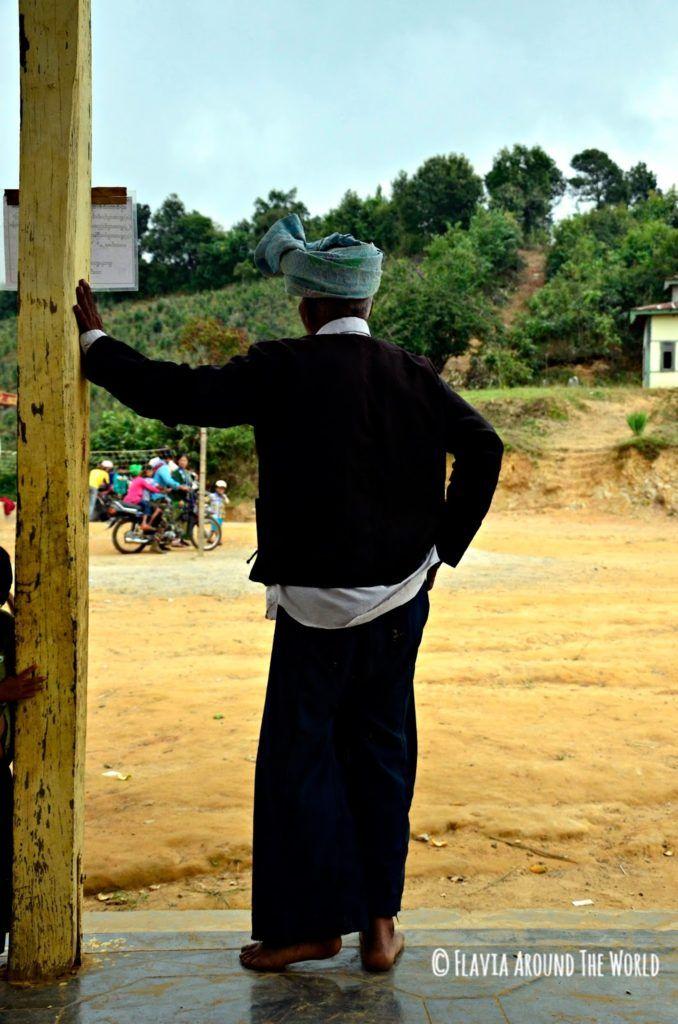 Hombre Palaung en Myanmar