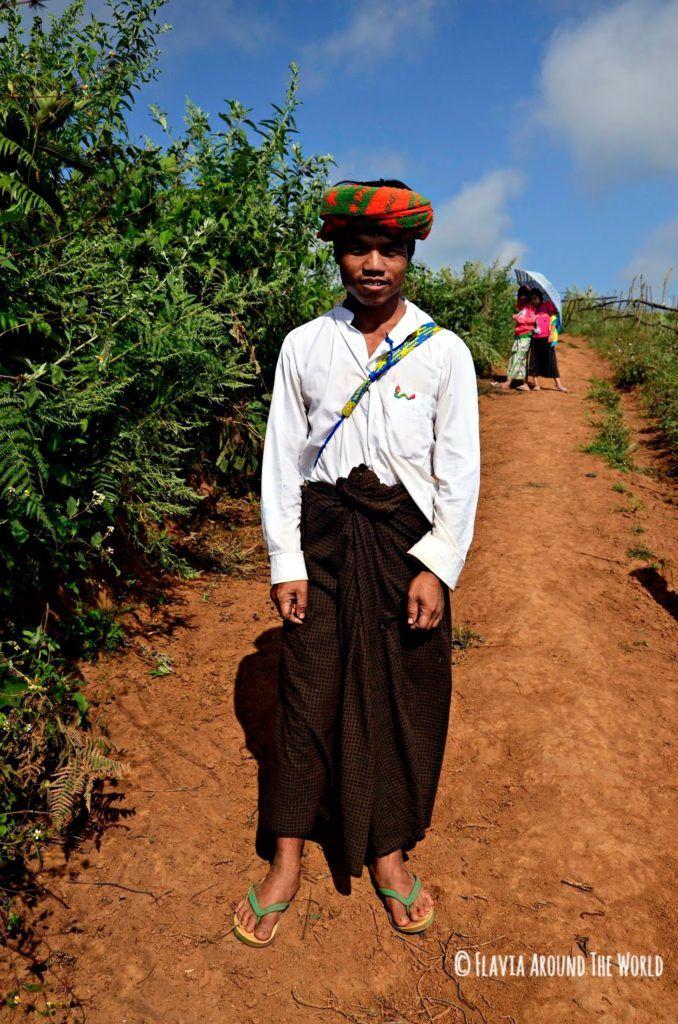 Hombre de la tribu Paho de Myanmar