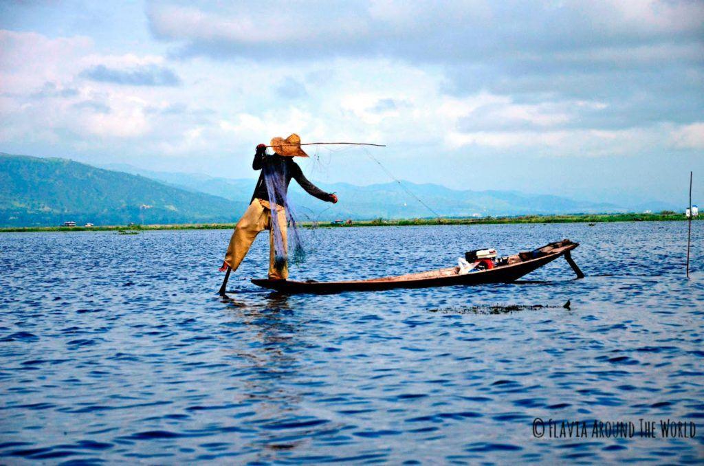 Pescador real del lago Inle