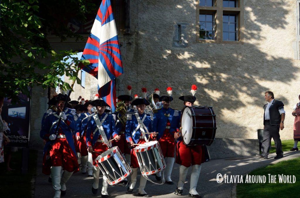 Recreación en el pueblo de Gruyeres