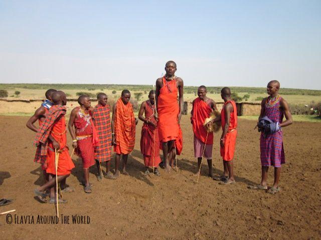 Masai salando en Masai Mara, Kenia