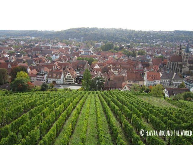 Vistas desde el castillo de Esslingen