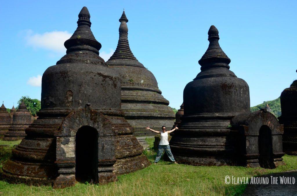 Exterior del templo de Andaw, Mrauk U, Myanmar