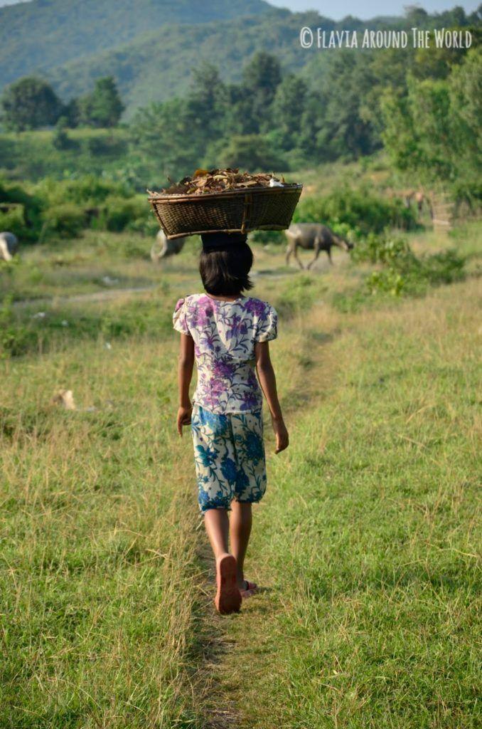 Niña de Mrauk U,Myanmar