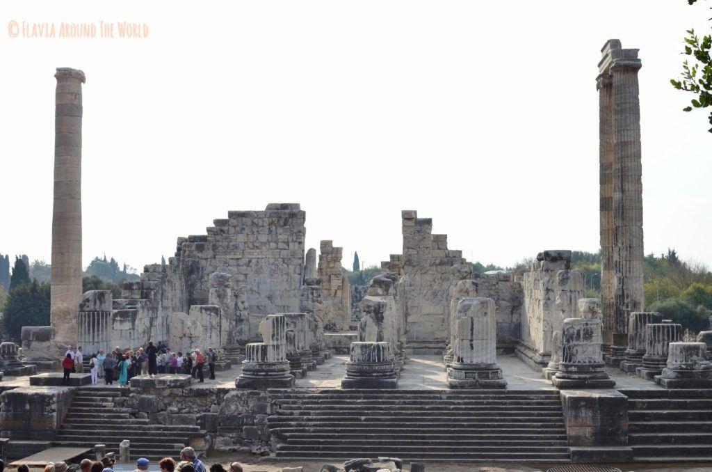 Vista del templo de Apolo,Turquía