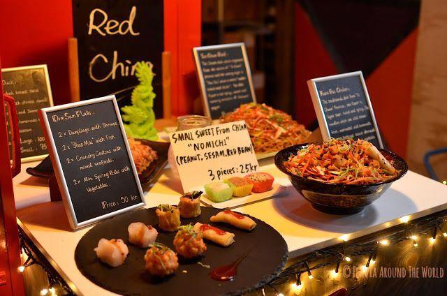 Comida china en el Papirøen, Copenhague