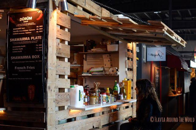 Otro puesto de Street Food en el Papirøen, Copenhague